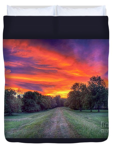 Warm Summer Night Duvet Cover