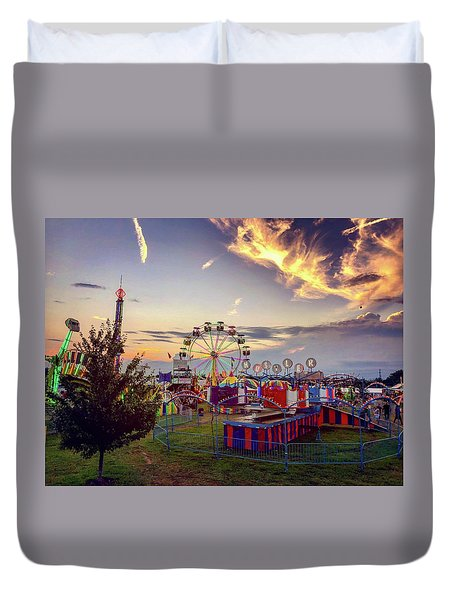 Duvet Cover featuring the photograph Warren County Fair by Candice Trimble