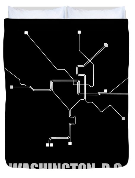 Washington, D.c. Square Subway Map Duvet Cover