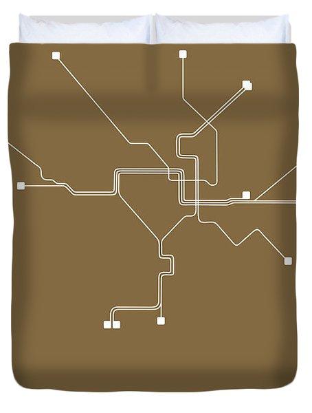 Washington, D.c. Subway Map 2 Duvet Cover