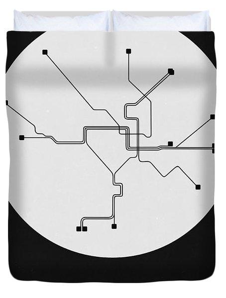 Washington D.c. White Subway Map Duvet Cover
