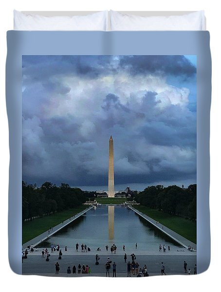 Duvet Cover featuring the photograph Washington From Lincoln by Lora J Wilson