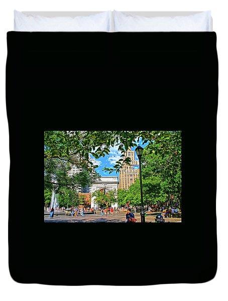Washington Square, Manhattan, New York Duvet Cover