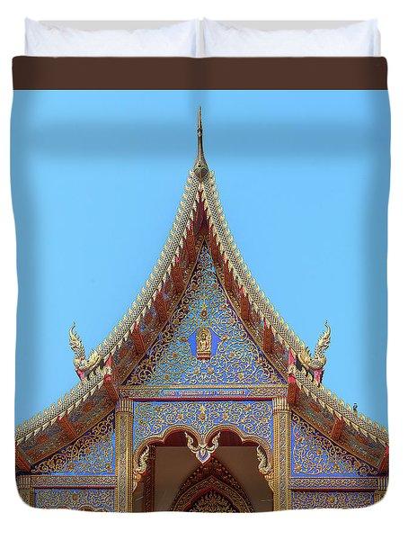 Duvet Cover featuring the photograph Wat Kulek Phra Wihan Gable Dthlu0443 by Gerry Gantt