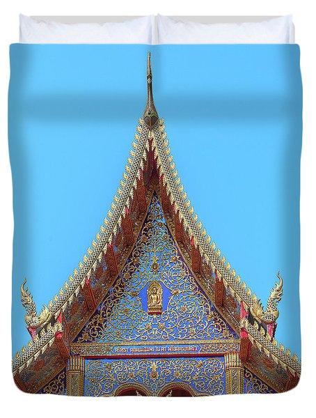 Duvet Cover featuring the photograph Wat Kulek Phra Wihan Gable Dthlu0444 by Gerry Gantt