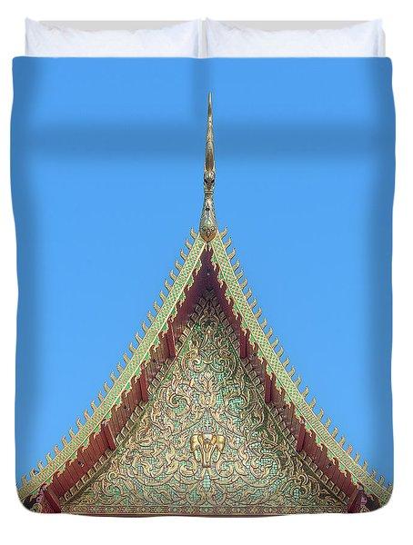 Duvet Cover featuring the photograph Wat Nong Khrop Phra Ubosot Gable Dthcm2663 by Gerry Gantt