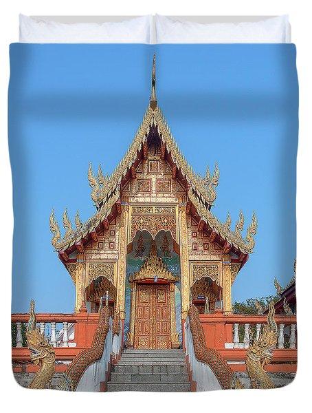 Duvet Cover featuring the photograph Wat Nong Tong Phra Wihan Dthcm2639 by Gerry Gantt
