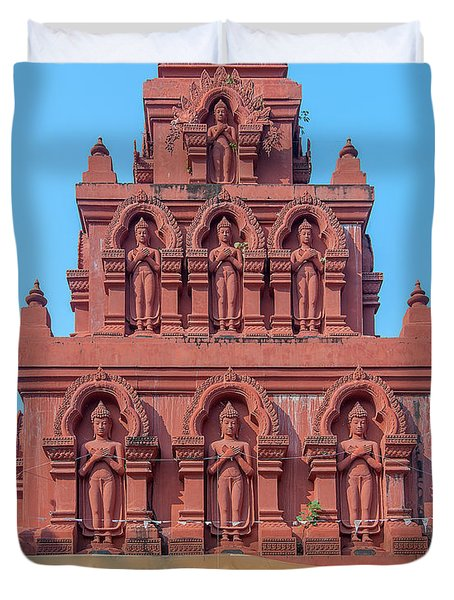 Duvet Cover featuring the photograph Wat Pa Chedi Liam Phra Chedi Liam Buddha Images Dthcm2673 by Gerry Gantt