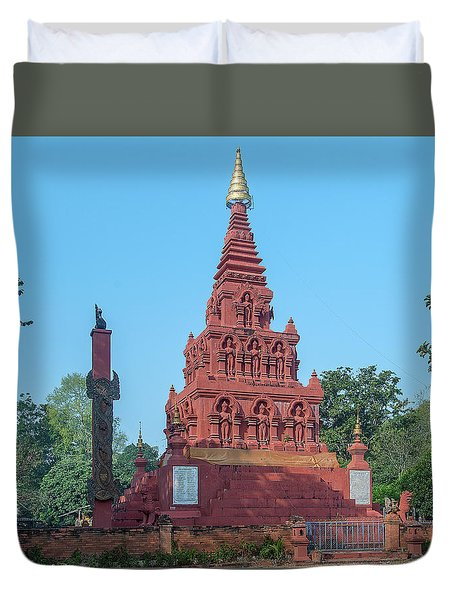 Duvet Cover featuring the photograph Wat Pa Chedi Liam Phra Chedi Liam Dthcm2670 by Gerry Gantt