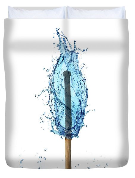 Water Flame Duvet Cover