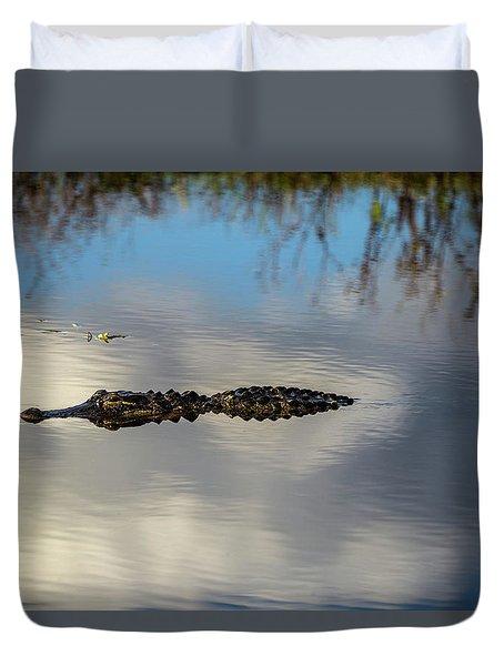 Watery Predator Duvet Cover