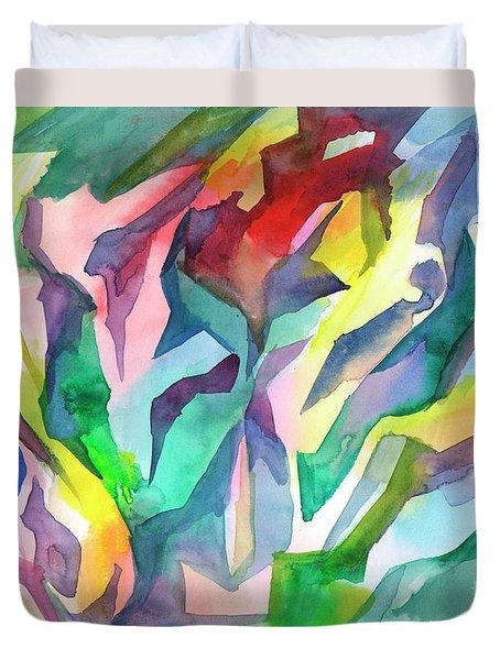 Watercolor Mosaic Duvet Cover