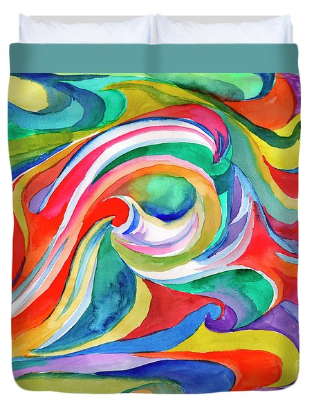Watercolor's Swirl Duvet Cover