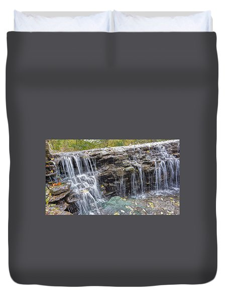 Waterfall @ Sharon Woods Duvet Cover