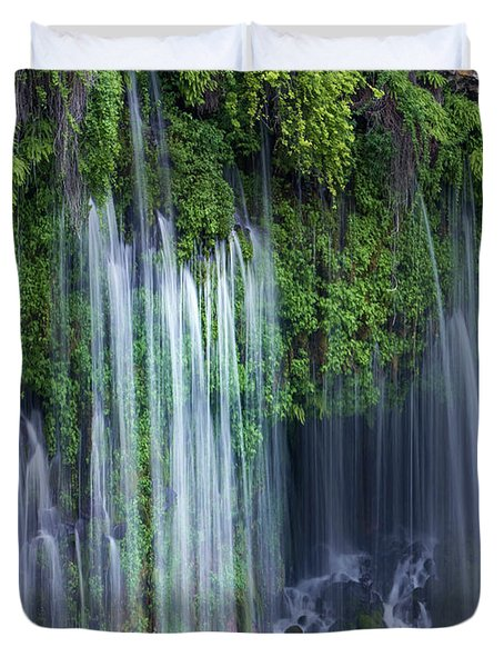 Waterfall, Mcarthur-burney Falls Duvet Cover