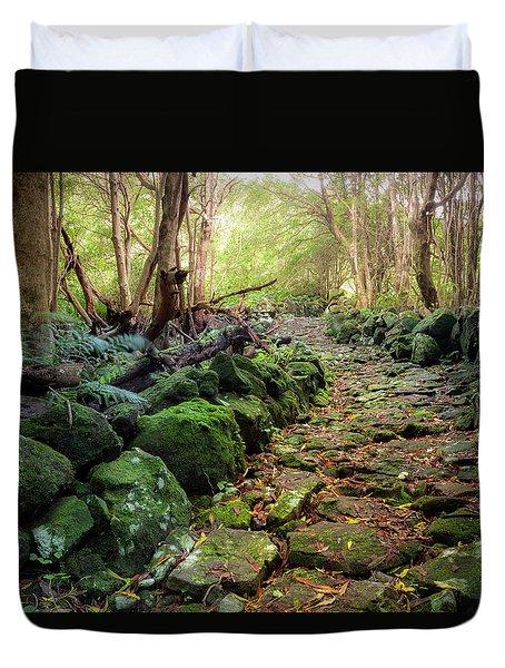 Waterfall Path Duvet Cover