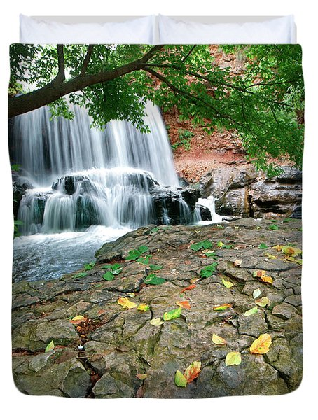 Waterfall, Tanyard Creek, Arizona Duvet Cover