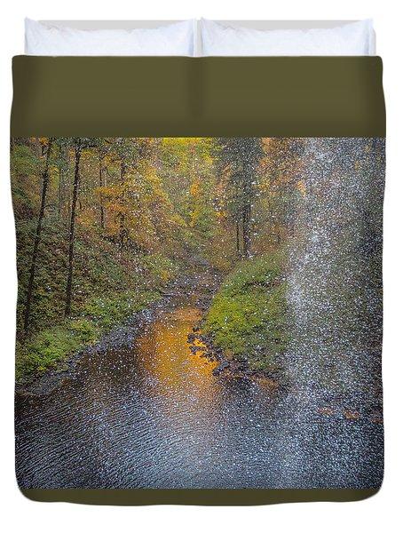 Waterfall Waterdrops Duvet Cover