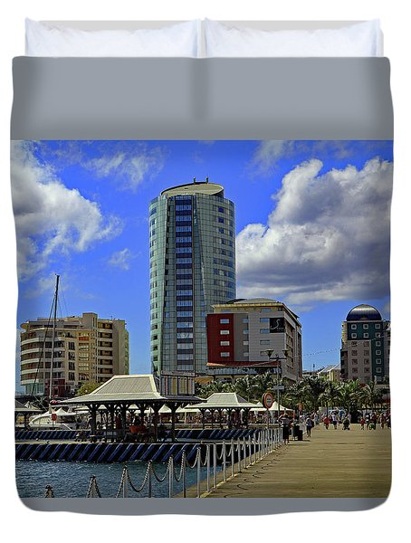 Duvet Cover featuring the photograph Waterfront by Tony Murtagh