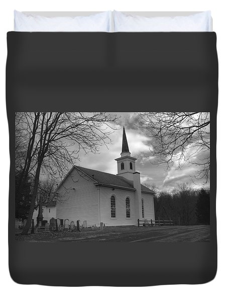 Waterloo United Methodist Church - Back Duvet Cover