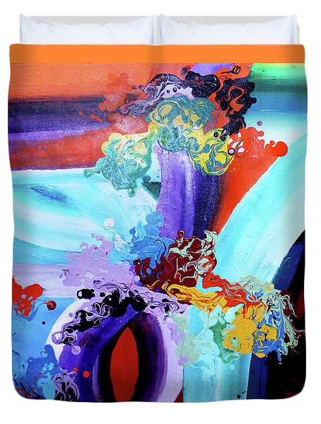 Watery Waves Duvet Cover