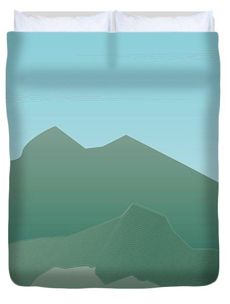 Wave Mountain Duvet Cover