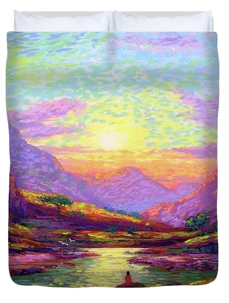 Waves Of Illumination Duvet Cover