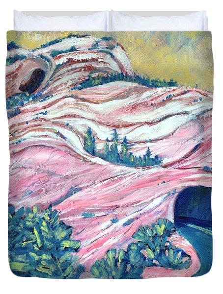 Wavy Rocks Duvet Cover