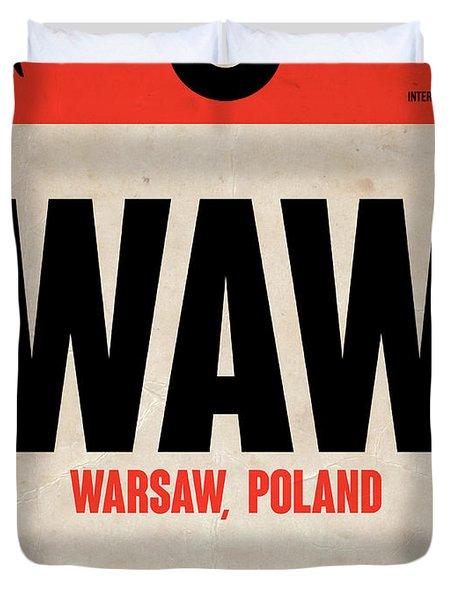 Waw Warsaw Luggage Tag I Duvet Cover