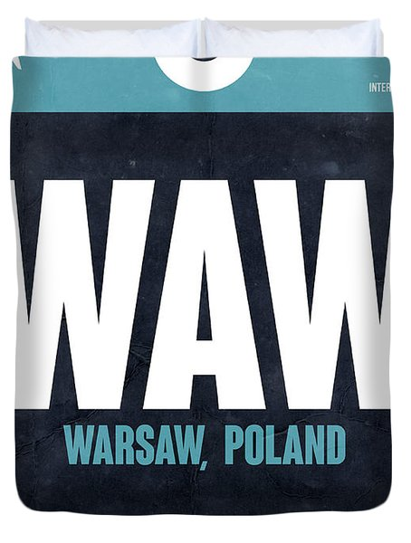 Waw Warsaw Luggage Tag II Duvet Cover