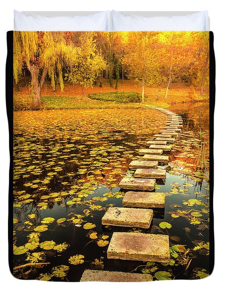 Way In The Lake Duvet Cover