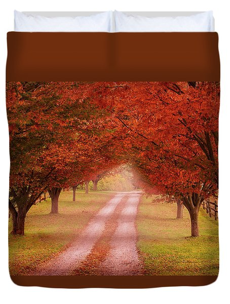 Way To The Farm Duvet Cover