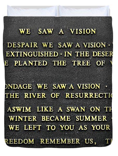 We Saw A Vision  Duvet Cover