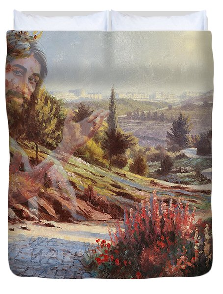 We Will Walk In His Paths 2 Duvet Cover