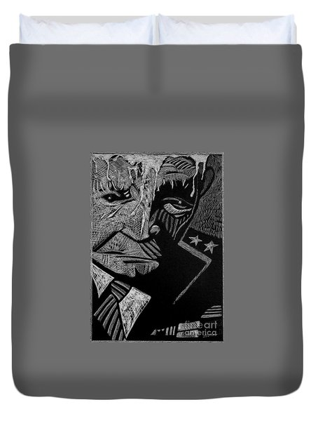 Weary Warrior. Duvet Cover