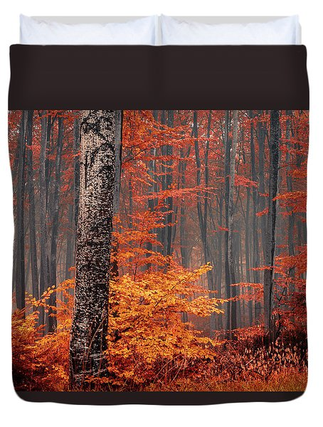 Welcome To Orange Forest Duvet Cover