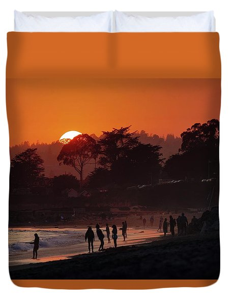 Duvet Cover featuring the photograph We'll All Be Gone For The Summer by Quality HDR Photography