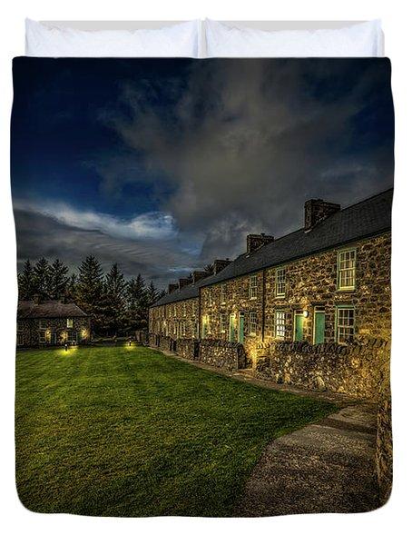 Welsh Cottages Twilight Duvet Cover