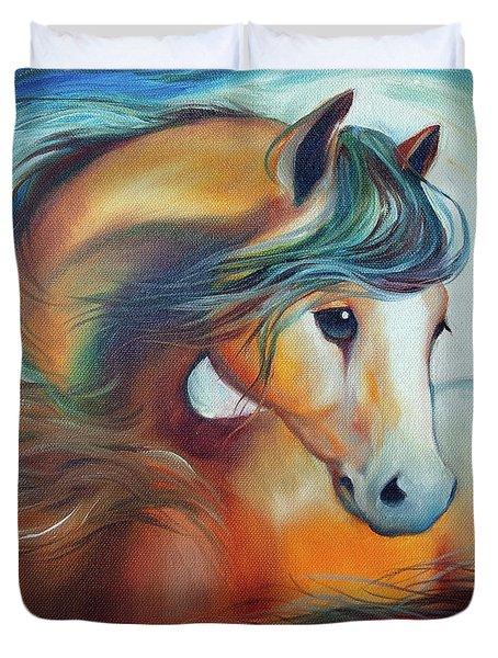 Wendy My Horse Duvet Cover