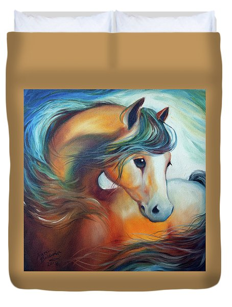 Wendy My Horse Duvet Cover