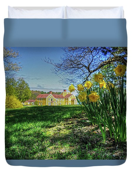 Duvet Cover featuring the photograph Wentworth Daffodils by Wayne Marshall Chase