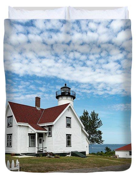 West Chop Lighthouse Marthas Vineyard Duvet Cover