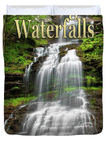 West Virginia Waterfalls Poster Duvet Cover