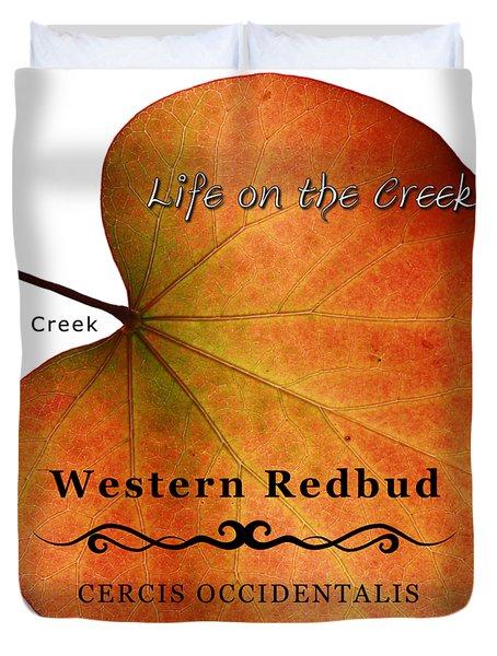 Western Redbud Duvet Cover