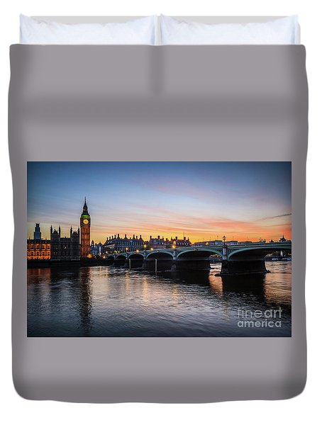 Westminster Sunset Duvet Cover