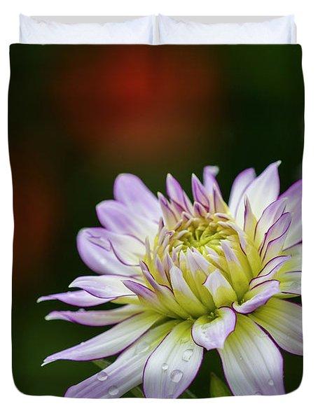 Wet Petals Dahlia Duvet Cover