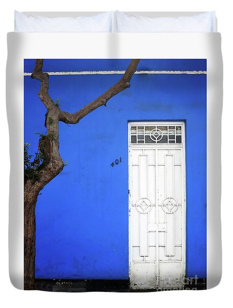 Duvet Cover featuring the photograph When A Tree Comes Knocking by Rick Locke