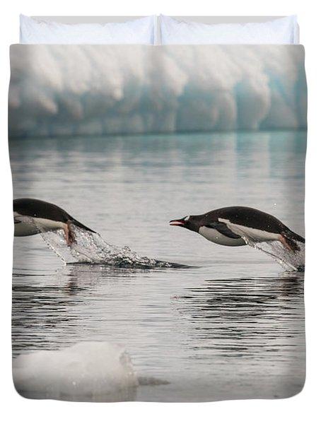 When Penguins Fly Duvet Cover