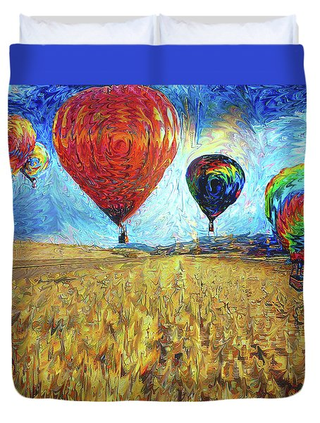When The Sky Blooms Duvet Cover