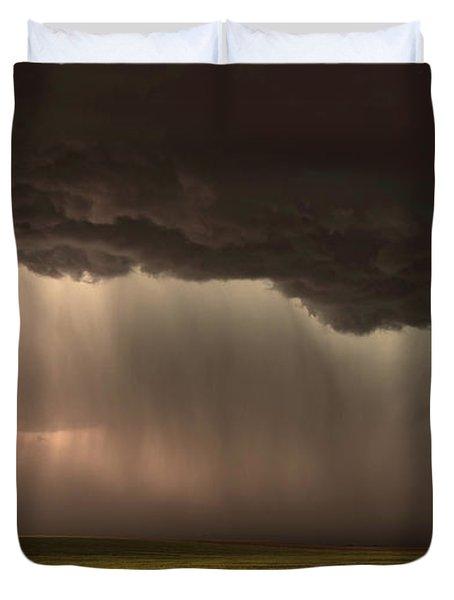 When Torrential Rains Fall Duvet Cover